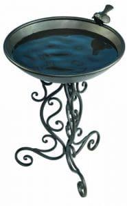 Gardman Ba01272Bain Oiseaux en métal décoré, 35,6cm de Large x 48,3cm Haute