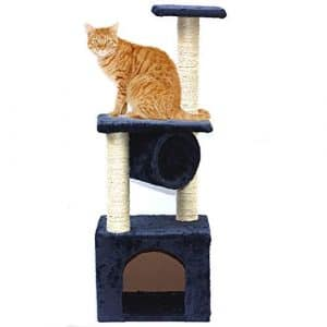 GSCshoe Pet Toy Cat Escalade Cadre Chat Scratch Conseil Talons Escalade Divertissement Meubles Décoration Cathole Nest (Couleur : Bleu)