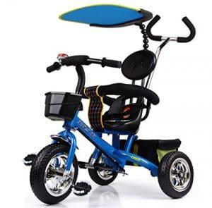 HDWY Enfants Tricycle 1-6-Year-Old Vélo Poussette Poussette Enfant Chariot,Deepseablue