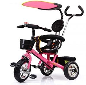 HDWY Enfants Tricycle 1-6-Year-Old Vélo Poussette Poussette Enfant Chariot,Peachpowder