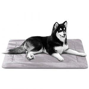 Hero Dog Doux Coussin pour Chien, Tapis Panier de Antidérapant et Lavable, Luxe Matelas Grande Taille (Gris Mauve, 107 x 75cm)