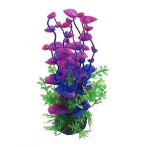 Hilai Réservoir de Poissons Décoration en Plastique Aquarium Plantes Vertes Eau Herbe Ornement Plante 1 pc