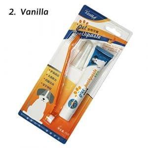 juxinuk 1pc Ensemble de brosse à dents pour dentifrice Three In One Pet (Vanille)