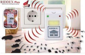 RIDDEX: appareil electronique par ultrason destructeur d'insectes et souris.