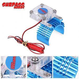 Alian 36mm 540 550 3650 Radiateur de moteur w/Ventilateur de refroidissement pour HSP HPI Tamiya FS voiture RC – Bleu