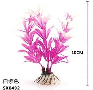 Amoy. B de Simulation Rose 10cm d'eau Herbe Décoration Fish Tank * 1
