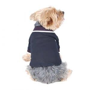 Anima Noir Style Polo pour animal domestique T-shirt Vêtements, Petit