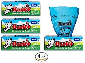 Bark 1200 écorce + Sacs à Déjections Canines, Lot DE 4