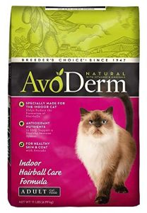 Breeder's Choice Avoderm Natural Hairball Corn Free Indoor Cat Healthy Food 11lb