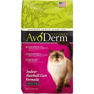 Breeder's Choice Avoderm Natural Hairball Corn Free Indoor Cat Pet Food 3.5lbs