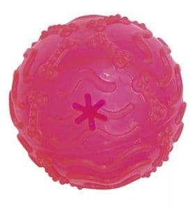 Croci Fluo Treat Ball Jeu en Caoutchouc pour Chiens 10,5 cm