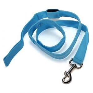 DcolorLaisse lasso corde a LED lumineux ENSEMBLE HARNAIS LAISSE POUR PETIT CHIEN /chat – bleu