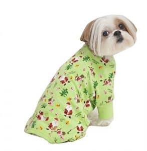Fashion Pet Mode pour animal domestique Vacances pour animal domestique PJ pour femme, Petit, Vert