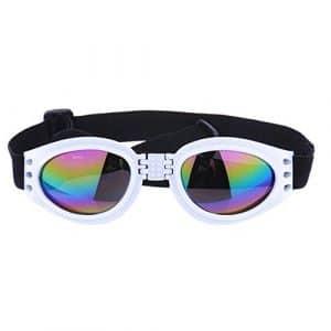 Godea Chien extérieur Pliable UV Anti-Buée Lunettes de Soleil Prévention Wind pour Animal Domestique Eyewear Dog Lunettes de Protection incassable