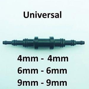 greitapigu.lt Plastique Connecteur Raccord Droit Universal 4/6/9 mm Tuyau Conduite Durite pour Air Carburant Eau Vide