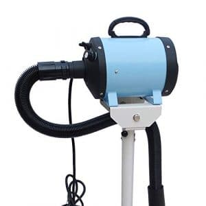 HU Pet Dryer Animaux Sèche-Poils De Compagnie Souffleur d'eau Tridimensionnel Pulvérisation Électrostatique Réglable Détachable Facile À Déplacer (Couleur : Bleu Clair)