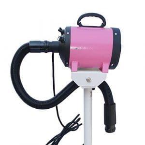 HU Pet Dryer Animaux Sèche-Poils De Compagnie Souffleur d'eau Tridimensionnel Pulvérisation Électrostatique Réglable Détachable Facile À Déplacer (Couleur : Pink)
