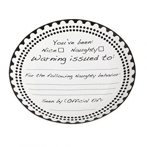 Nice or Naughty Black Ink Customizable 12-inch Platter