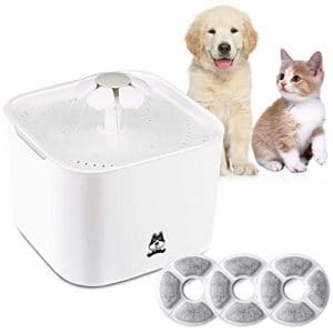 Automatique Chat Fleur Potable Fontaine Flower Sytle Automatic Electric 2 l Pet Water Fountain Drinking Bowl mit Mat