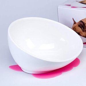 Daeou Bol Animaux de Compagnie Tuba de Vaisselle Animaux de Compagnie-céramique Bol de Chien Chat Bol Pet 24,5 * 13 cm
