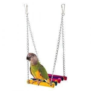 Ewfsef pour animal domestique Oiseau Perroquet perruche perruche calopsitte élégante Cage Hamac Swing jouet jouet à suspendre