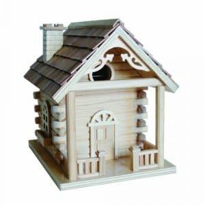 Home Bazaar Cabine Birdhouse, Naturel