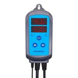 Inkbird IHC-200 Double Relais Digital Hygrostat Hygrometre avec Sonde Humidité , Humidification & Dehumidification Prises Contrôleur Humidité pour Plante Terrarium Humidificateur, Mini Serre, Air Compresseur, Incubateur Reptile