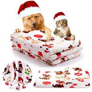iNNEXT Couverture de chien chat douce en laine polaire souple pour animaux douce doggy chaud coussin ( 76 x 52 cm)
