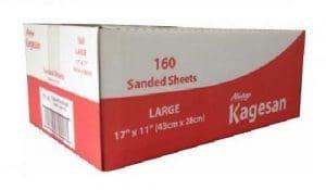 Kagesan Lot de 160 Feuilles de Papier sablé pour Cages d'oiseau 43 x 28 cm