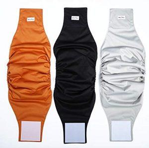 Katze-Tatze Couches de Chien Extra Confort Protection de Luxe Couches de Lavables et Réutilisables pour Chiens Féminins et Masculins Paquet de 3 (S)