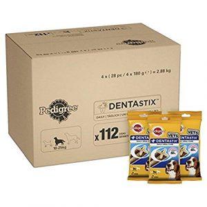 Pedigree Dentastix Friandises pour Moyen Chien, Bâtonnet à Mâcher pour l'Hygiène Bucco-Dentaire 112 Sticks