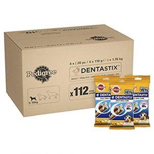 Pedigree Dentastix Friandises pour Petit Chien, Bâtonnet à Mâcher pour l'Hygiène Bucco-Dentaire 112 Sticks