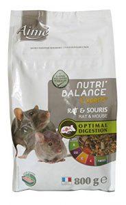 AIME Aliment complet Rat et Souris, NUTRI'BALANCE EXPERT Repas Premium varié vitamines et digestion optimale, 800G