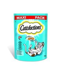 Catisfaction Maxi Packs Friandises au Saumon 180g – Lot de 4