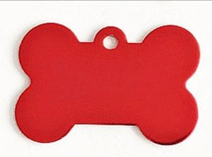 Collier de Chat Laisse en Forme d'os Dog Tag Leash Pendentif Tag Collar Accessoires (Rouge) pour Animal de Compagnie
