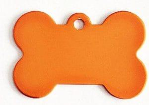 Collier de Chat Laisse en Forme d'os Étiquette Laisse Pendentif Tag Collar Accessoires (Orange) pour Animal de Compagnie