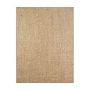 Enkoo Tapis Simple, Salon, Table Basse, Chambre à Coucher, couvertures de Chevet, Tapis de Sol en Lin en Paille, Couleur Primaire en sisal personnalisé (Brun Clair) (Taille : 200CM*300CM)