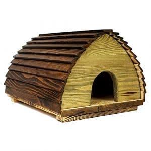 Fabrication professionnelle Eco Hérisson Maison–Construction en bois massif avec couvercle pour ouvrir