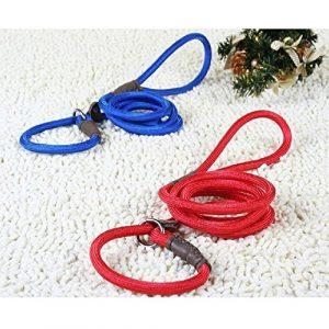 GOGOGO 1x 130cm réglable collier Pet chiot corde de traction Slip laisse de dressage en nylon pour chien Noir