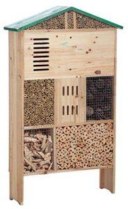 Grande hôtel maison à insectes en bois