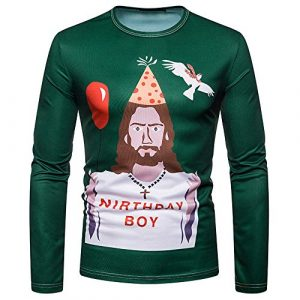 Heligen_Mens Sweatshirt – Sweat-Shirt – Manches Longues – Femme – – 28 W/34 L