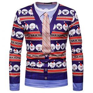 Heligen_Mens Sweatshirt – Sweat-Shirt – Manches Longues – Femme – – S