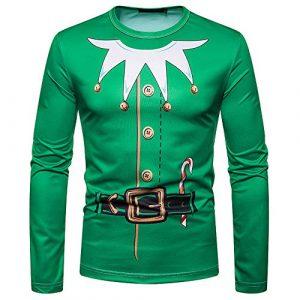 Heligen_Mens Sweatshirt – Sweat-Shirt – Manches Longues – Femme – Vert – XXL