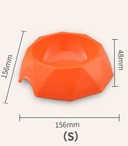 HFjingjing Distributeur d'eau pour Animaux de Compagnie Bol en Plastique en Forme de Diamant pour Animaux de Compagnie Bol pour Chat en Forme de Losange (Orange S) Bouteille de Voyage Chat