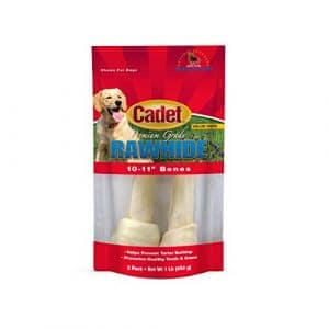 IMS Trading 10008 Natural Rawhide Bone for Dogs, 10-Inch by IMS Trading