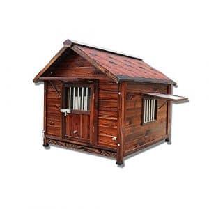 Andre Pet Supplies Chien en Bois Kennel Villa en Plein air Pet House Animalerie Haut de Gamme Chat nid lit pour Chien lit pour Chien nid de Chien-Grand