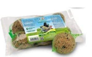 Cliffi – Boules de graisse, céréales et graines pour les oiseaux en liberté des parcs et des jardins – Lot de 6boules