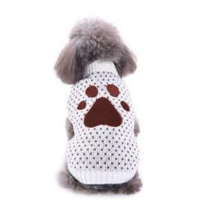 Cutogain pour Animal Domestique Vêtements Pull pour Chien Puppy Hiver Chaud Polyester pour s'adapter pour Animal Domestique,Accessoires d'hiver de Chien (M, Beige)