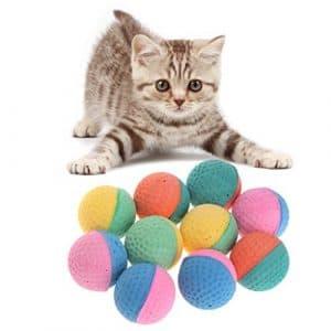 ECMQS 10 Pièces Jouet pour Animaux Balles De Latex Coloré Chew for Dogs Chats Chiot Chaton Doux Élastique