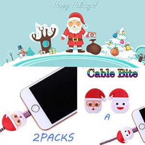huichang Lot de 2 Coques de Protection pour câble USB pour téléphone Portable